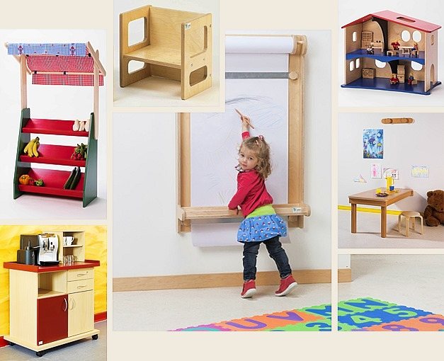 tische st hle malw nde und puppenstuben f r kindergarten. Black Bedroom Furniture Sets. Home Design Ideas